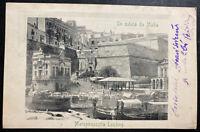 1912 Valletta Malta Real Picture Postcard Cover To  Jamnitz Moravia Marsamuscett