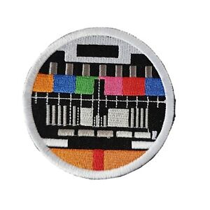 Test Card Iron or Sew On Embroidered Patch Badge Fun Logo 8 X 78CM P296
