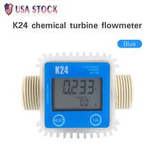 Pro K24 Turbine Digital Diesel Fuel Flow Meter Chemicals Water Petro Industrial