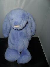 "Jellycat Bunny Plush Blue Rabbit Stuffed Animal Toy 16"" Large"