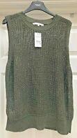 Women's Next Knitwear Khaki Corded Vest Top  - UK Size L