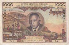 Billets de l'Afrique de Madagascar