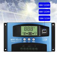 10-100A LCD MPPT/PWM Solar Panel Battery Regulator Charge Controller 12V/24V