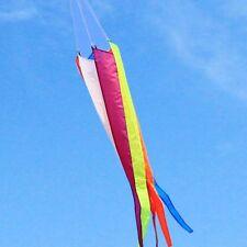 Rainbow Kite Tail Windsock Outdoor Wind Spinner Garden Decor Yard Kids Colorful