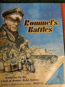 Clash of Arms modules Wargame  Rommel's Battles WW2 miniatures rules NIS