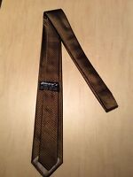 Vintage Krawatte extra Schmal - 100% Seide