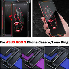 For Asus Rog 3 Metal Frame Phone Case Edge Protective Cover Shell with Lens Ring