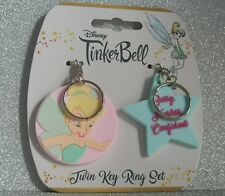 Disneys Tinkerbell Key Ring and Key Chain  New/Tagged -Peter Pan Character x 2