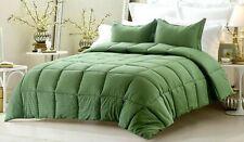 Down Alternative Bedspread 200 GSM Egyptian Cotton Moss Striped Emperor Size