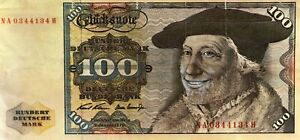 GERMANY 100 MARK 1970 LARGE SIZE BANK NOTE?.....STARTS@ 2.99