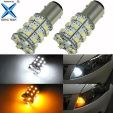 60-SMD Switchback LED Front Turn Signal Light Bulbs for Honda Accord Sedan 98-15