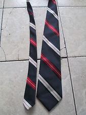 Christian Dior Navy Blue Red White Strips Tie
