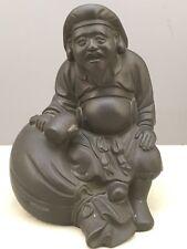 Japanese Taisho Solid Bronze Okimono - Daikoku