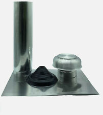 150mm Tiled Roof Cowl Vent Kit with Flashing - Bushfire BAL compliant - TRCK150