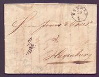 Vorphilabrief Bremen 1834 des Hannoverschen Postamts nach Hagenburg (076)