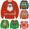 Vacances NoëL Taille Horrible Pull Santa Elf Novelly Femmes Hommes Jumper Sweat