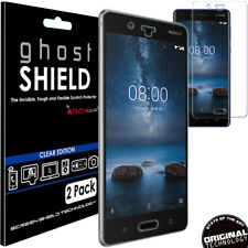 2x TECHGEAR (TPU) Clear FULL COVERAGE Screen Protector Covers for Nokia 8