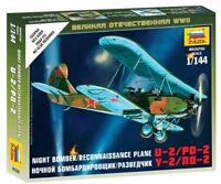 Zvezda 1/144 NOTTE BOMBER/RICOGNIZIONE aeroplano U-2/Po-2 #6150
