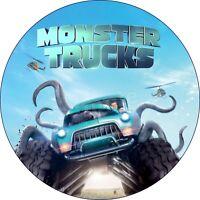 Monster Trucks Eßbar Tortenaufleger NEU Party Deko Geburtstag dvd Tortenbild