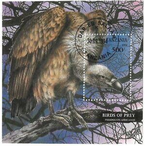 TANZANIA SOUVENIR SHEET BIRD'S OF PREY