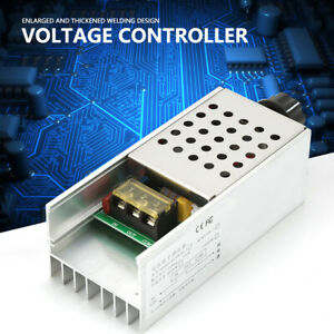SCR Electric Voltage Regulator 220VAC 6000W Dimmer Motor Speed Temp Controller