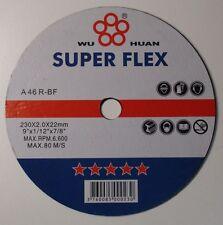 """9"""" 230MM X 2MM  THIN METAL CUTTING DISCS , MILD STEEL CUTTING DISCS , DISKS X 10"""