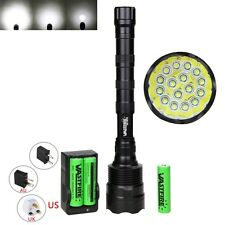 Super Bright 60000Lm 16x XM-L T6 LED 18650 Flashlight Torch Light Lamp 5-Modes