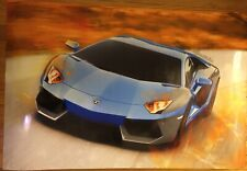 Lamborghini Aventador LP750-4 SV Supercar Vehicle silk print 24 x 14 inch poster