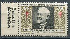 TIMBRE VIGNETTE PUBLICITAIRE CALMETTE VACCIN BCG BISCOTTES HEUDEBERT