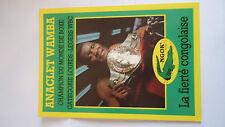 Cartolina Postcard Anaclet Wamba Pugile Boxer Box World Champion du Monde WBC