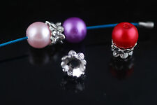 20Pcs Charms Tibet Silver Bracelet Crafts Finding Spacer Flower Beads Caps 10mm