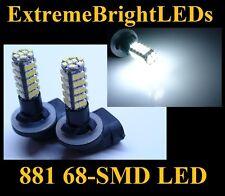 TWO 68-SMD Xenon White HID 881 LED Fog Light Bulbs