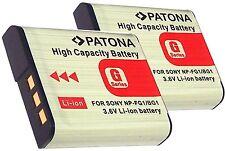 2 x AKKU für Sony CyberShot DSC-W40  wie Sony NP-BG1 / FG1