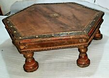 Antique Gujarat Takhat, Indian Low Coffee Table/God Singhasan Old 19th Century