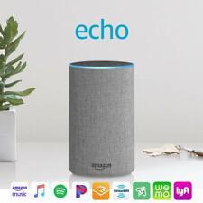 Amazon Echo (2nd Generation) Smart Speaker with Alexa Bluetooth - Gray Fabric