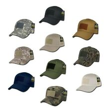 Solid Black Tactical Operator Contractor Military Patch Cap Caps Hat Hats