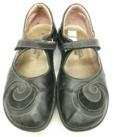 Naot Black Leather Casual Slip On Mary Jane Loafers Shoes Women's 37 / 6
