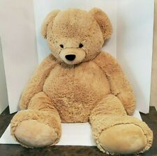"Toys R Us Animal Alley Jumbo 40"" Tan Brown Teddy Bear Plush Stuffed Animal EUC"