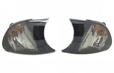 For BMW 3 Series E46 2 Door Coupe 01-03 black Front Indicators Pair Screw-In