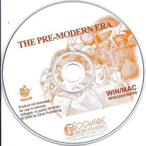 The Pre-Modern Era, PC & MAC CD (Fogware children learn fun study)