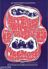 Grateful Dead  Jefferson Airplane Fillmore Handbill Card 1967 BG 23