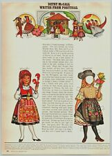 1972 McCalls Paper Dolls Betsy McCall Writes From Portugal Print Ad