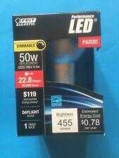 Feit PAR20/850/LEDG11 50W Equivalent Daylight  5K, Dimmable  LED Light Bulb