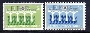CYPRUS  1984    EUROPA SET          SG  632/33    MNH UM
