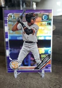 2019 Bowman Chrome 1st Marco Luciano rc Purple Refractor SSP /250 Giants Invest