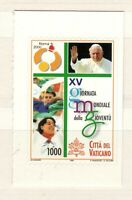 s33824 VATICANO MNH 2000 World youth day 1v s-a da libretto autoadesivo
