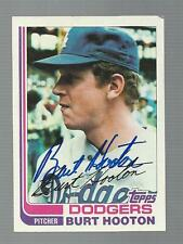 Burt Hooton Signed Auto 1982 Topps #315 Baseball Card Autograph