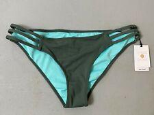 Shade & Shore Bathing Suit Bikini Bottom Olive Green Turquoise Cheeky Small NWT