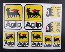agip eni sponsor decals 4.7x6.3'' blatt 9 stickers aprilia ducati aufkleber