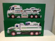 HESS TOY TRUCKS 2017 & 2016 DUMP TRUCK & LOADER & TRUCK WITH DRAGSTER